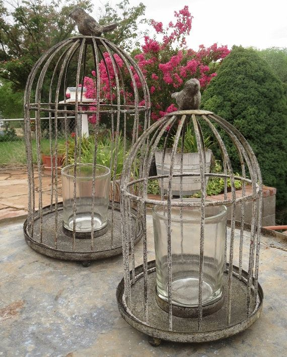 Wire bird cage set Two Vintage Bird cages by TJsGeneralStore, $49.99