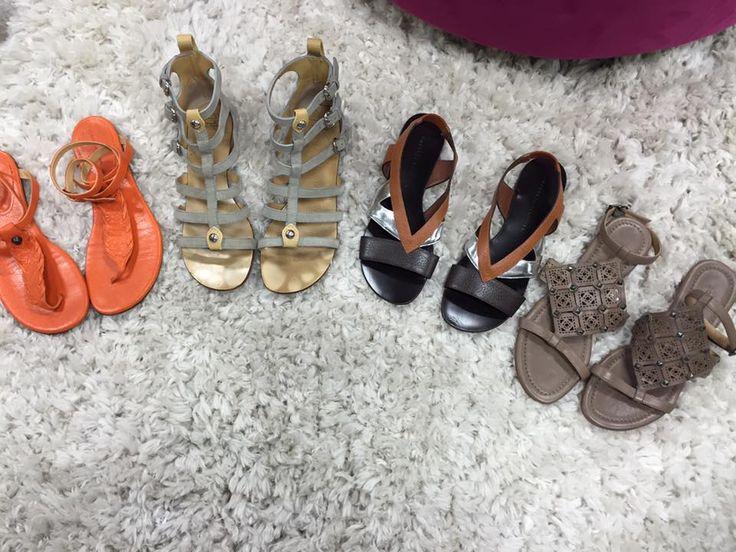 From Left to Right  Balenciaga Orange Flats Size 7 1/2, $250  Giuseppe Zanotti Design Size 7, $185  Proenza Schouler Size 6, $200 Sigerson Morrison Taupe Flats Size 6, $160