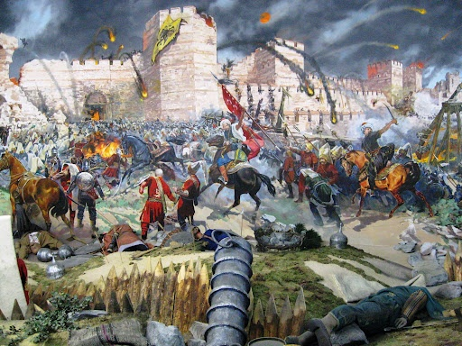 1453: Fall of Constantinople, definite end of (East) Roman Empire