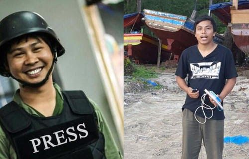 Two journalists in Myanmar were handed over to the police station    Yangon ... Two foreign news agency officials were detained after the...
