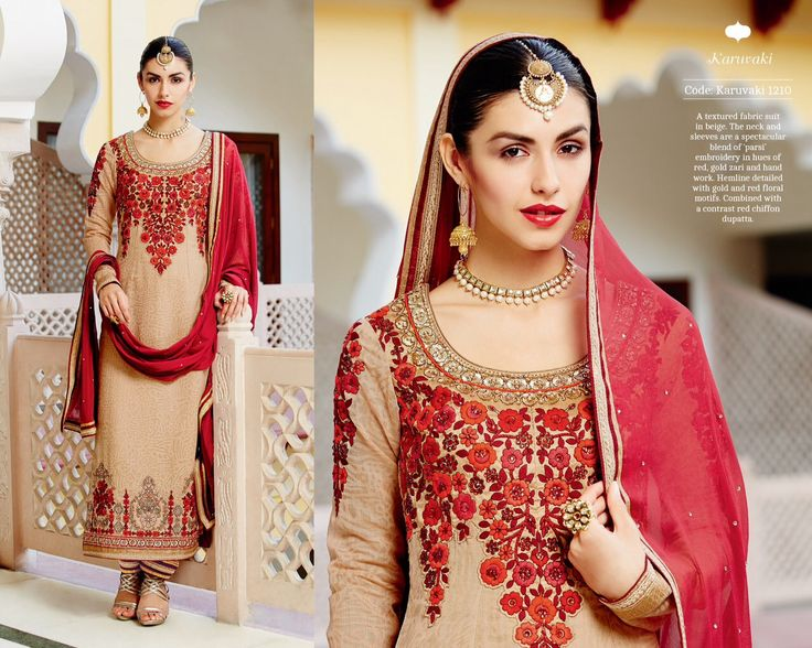 """""""Ornate collections"""" <3 <3 Code: Reps beigered Price: 4475/- Material: Semi-stitched/georgette/chiffon dupatta for booking and further details pls call or whatsapp us at +919600639563 or +919751223000. Happy shopping y'all :) Be Beautiful :)"""