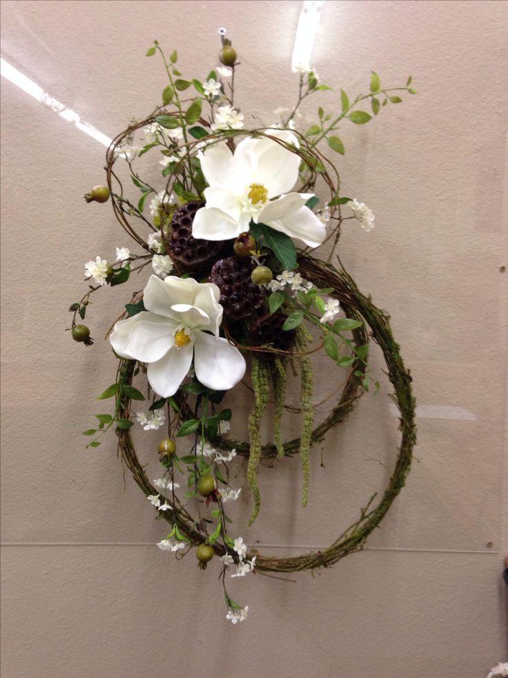 Magnolias and vine