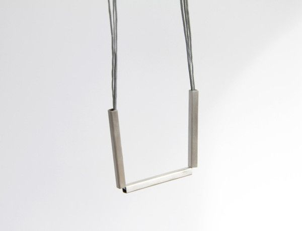 Sterling Silver Triple Square Tube Necklace