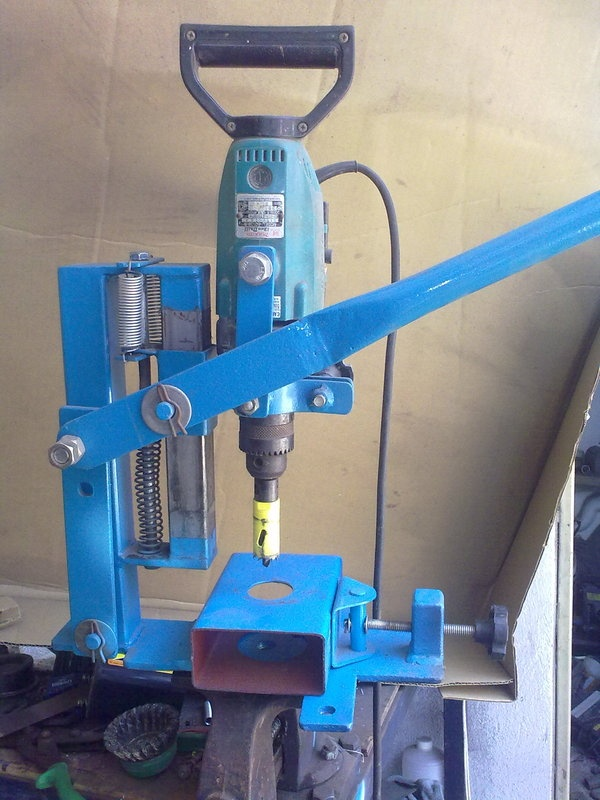 How to make a hand into drill press