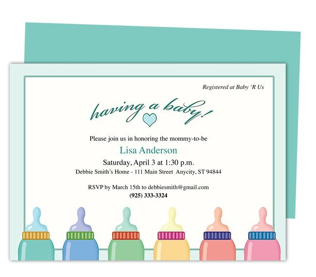 8 best Baby Shower Invitation Templates images on Pinterest - free baby shower invitation templates for word