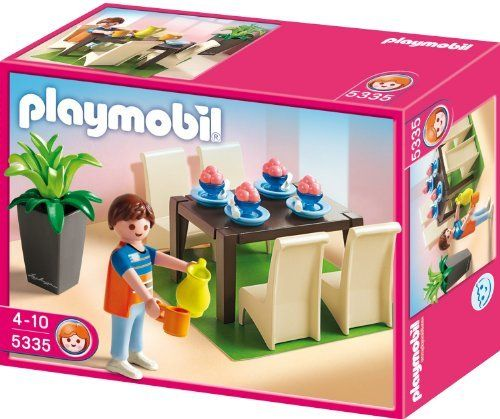 Playmobil 5335 grand dining room by playmobil 7 9 for Table playmobil