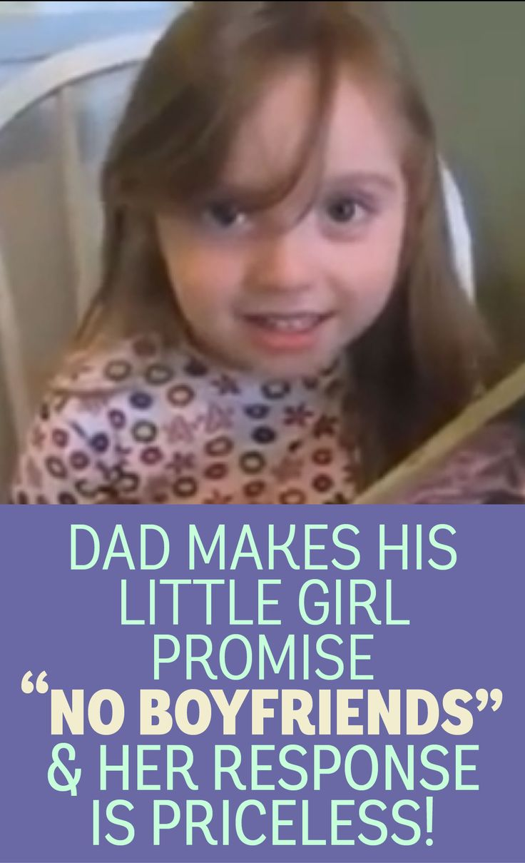 Dad makes his little girl promise no boyfriends, her response is priceless!!