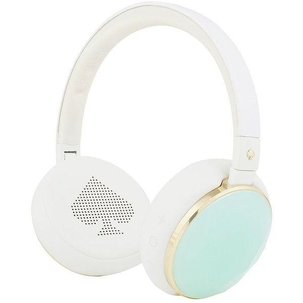 Kate Spade Wireless Headphones ($150) ❤ liked on Polyvore featuring home, home decor, kate spade, kate spade home decor and music home decor