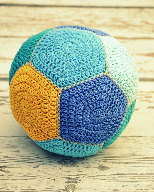 Scrap Yarn Project - Crochet Hexagon Ball