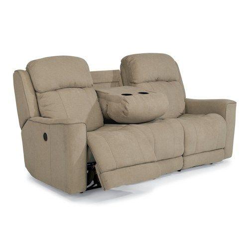 Flexsteel Sofa Bed Mattress: Flexsteel Latitudes-Brooks Casual Power Reclining Sofa