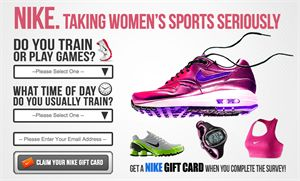 If you are a sports lover, you'll like this offer from Nike. Take a quick survey and claim a free gift card from Nike. Cool.. isn't it ?    Claim Your Nike Gift Card Now!