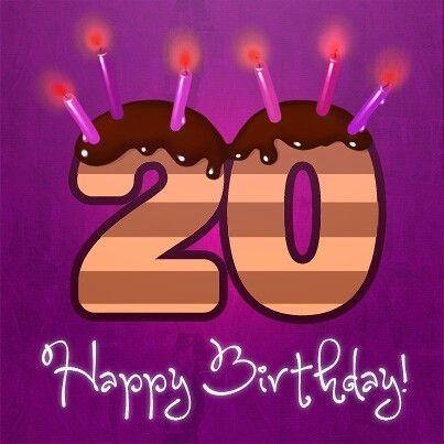 Happy 20th Birthday Happy 20th Birthday 20th Birthday
