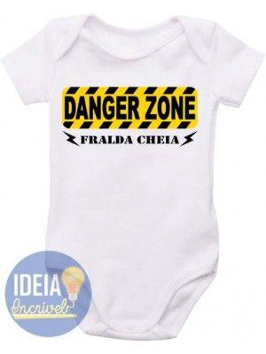 Body Infantil - Danger - Fralda Cheia
