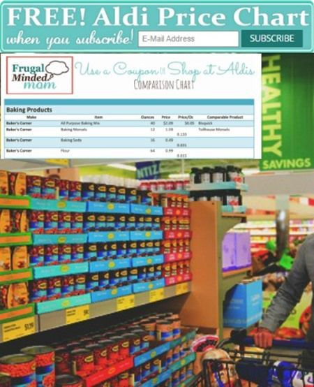 FREE Aldi Price Chart | Should you Use a Coupon or Go To Aldi - Frugal Minded Mom