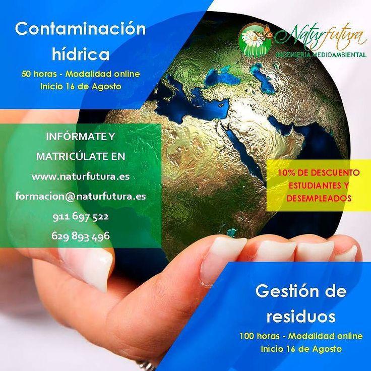 Cursos online Contaminación hídrica y Gestión de residuos #cursos #formacion #cursosonline #medioambiente #environment #course #courses #naturfutura #contaminación #contamination #residuos #agua #enseñanzas #enseñanza #medio_ambiente #polucion #gestionambiental #ambiental #ambientalistas #ambientalista #ecologia #ecologic