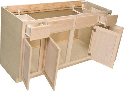 Quality One 60 Quot X 34 1 2 Quot Unfinished Oak Sink Base