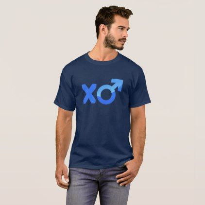 Cool Valentine Mars Symbol XO Couple T-Shirt - blue gifts style giftidea diy cyo