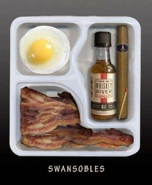 The breakfast of Ron Swanson