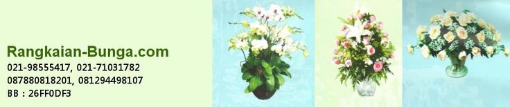 Rangkaian bunga segar