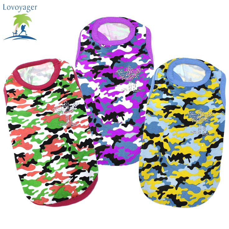 Summer Dog Clothes Vest T-shirt Camouflage Dogs Goods For Pets Colorful Blouses Men's T Shirts Women Vest ** This is an AliExpress affiliate pin.  Details on product can be viewed on AliExpress website by clicking the VISIT button