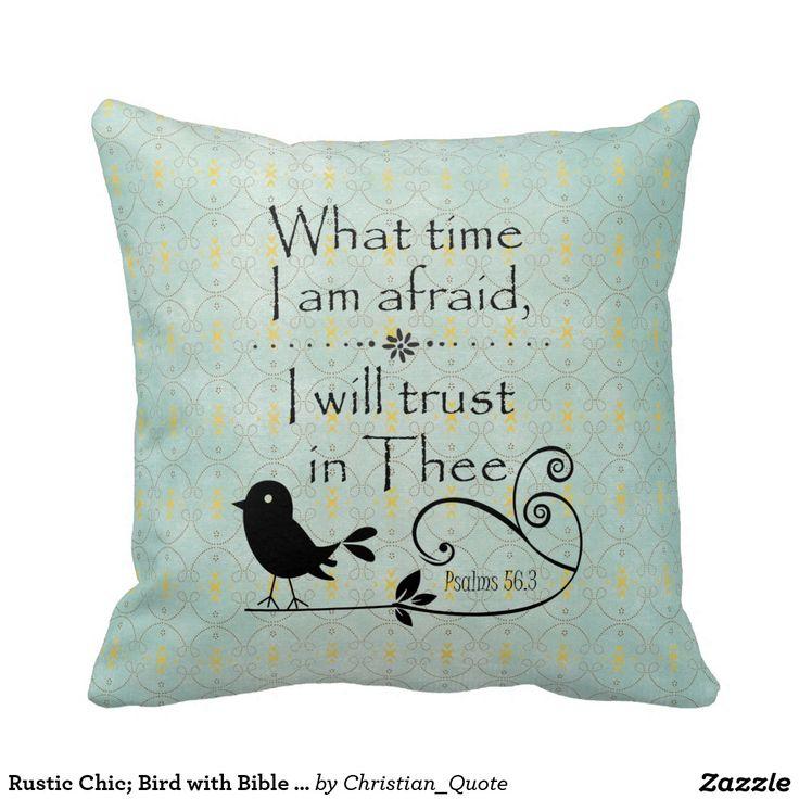Rustic Chic; Bird with Bible Verse Pillows #bibleverse #faith #pillows