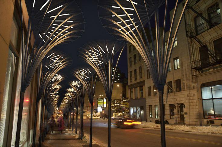 Public Spaces - Sidewalk scaffolding