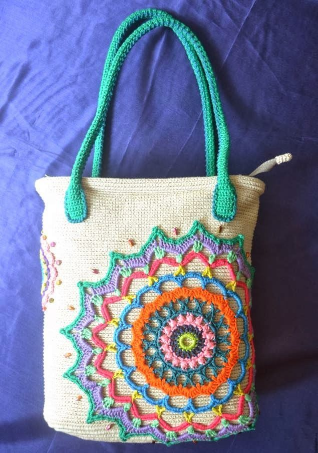 tığ işi örgü saplı renkli çanta modeli - Kadın, Giyim, Moda, Sağlık,