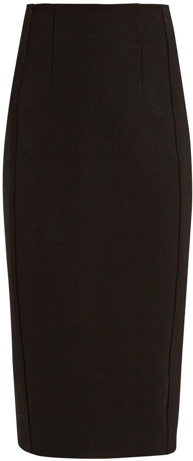 Diane von Furstenberg High-rise jersey midi pencil skirt