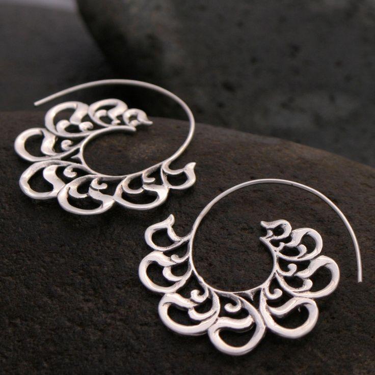 Beloved Hoop Earrings - Sterling Silver (solid) - small. $32.00, via Etsy.