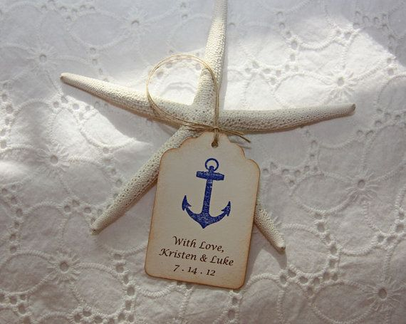 Nautical Wedding Tags  Personalized set of by TorisCustomCreations, $35.00