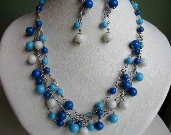 Gypsy Summer Statement Necklace Set by GypsyJean on Etsy, $35.00