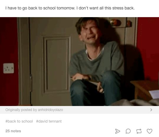 When you get the Sunday night fear. | 22 Back-To-School Memes All Teachers Will…