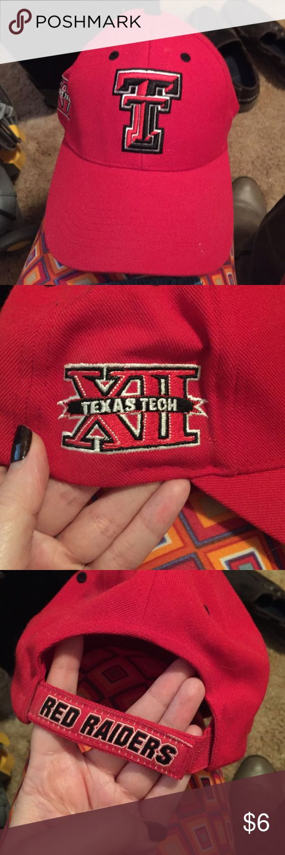 Texas Tech Baseball Hat Very good condition. Velcro adjustment in back. Accessories Hats