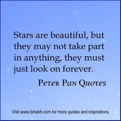 Peter Pan Quotes at  www.bmabh.com #stars                                                                                                                                                                                 More