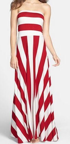 Convertible maxi dress in #red stripe http://rstyle.me/n/gdxrdnyg6