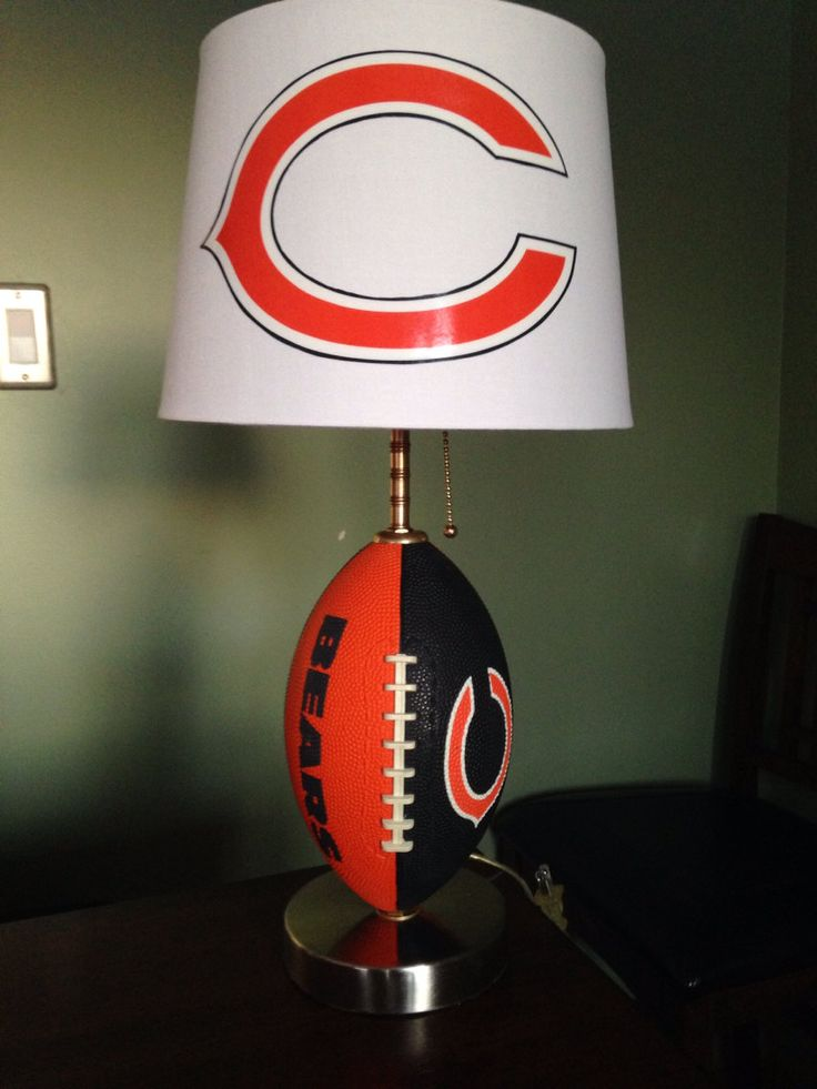 Chicago Bears football Lamp by thatlampguyGraz on Etsy, $80.00