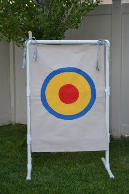 Target for practice throwing and other games. Made of PVC pipe and canvas. #Toys #Ball #Boys
