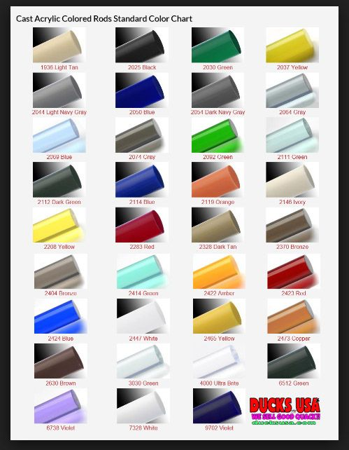 I thought these acrylic color charts would be helpful to call makers