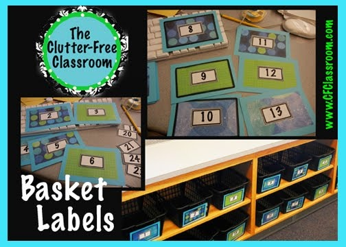Basket Labels - my classroom makeover