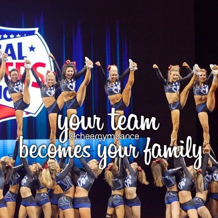 Cheerleading Friend Quotes: Your Team Becomes Your Family :) This Is My Favorite CA