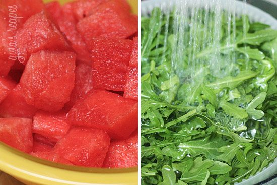Watermelon Arugula and Feta Salad: great summertime salad for light ...