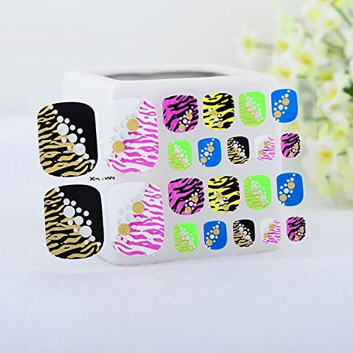 Nicedeco 22 PCS 3D nail sticker Toenail sticker BE-NS-0385 nail tattoo Peel and Stick Face/Fingernail Tattoos Toe Tattoo Toe sticker *** Special offer just for you. See it now! : Beauty products 99 cent
