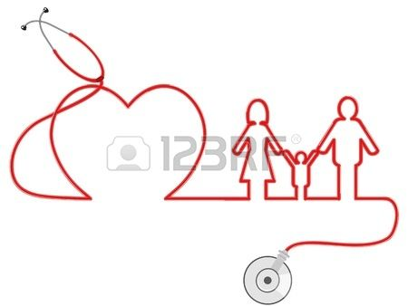 the symbol of family Healthcare by stethoscope