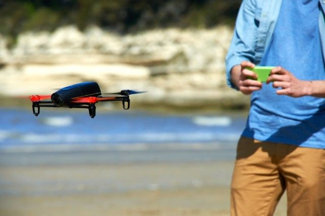 The Parrot Bebop Drone, A Lightweight Quadcopter Featuring an HD Camera and Wi-Fi Hotspot