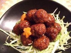 meatball カリっでふんわり★パパ直伝 ミートボール (ground beef / pork, carrot, dashi)