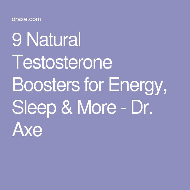 9 Natural Testosterone Boosters for Energy, Sleep & More - Dr. Axe