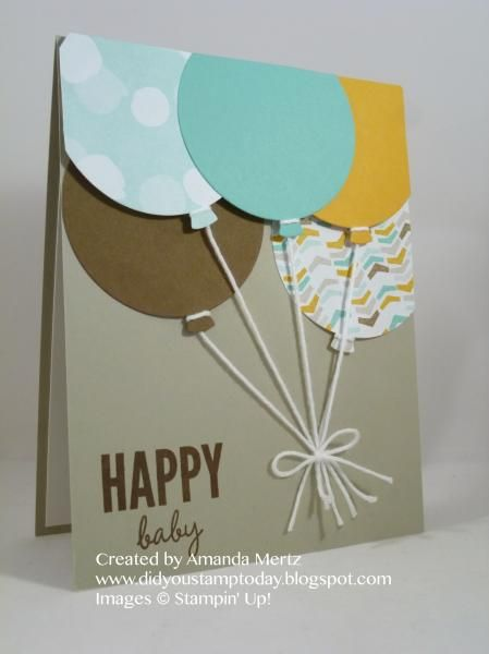 Baby Balloons by mandypandy - Cards and Paper Crafts at Splitcoaststampers
