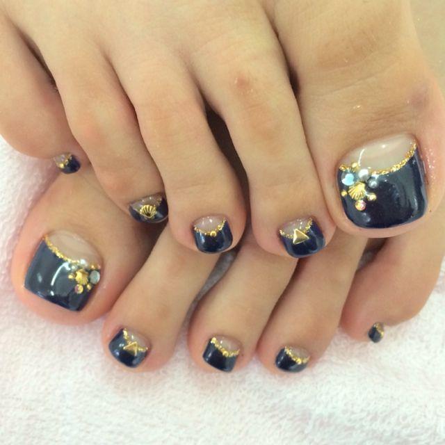 Black Toe Nail Art Softland