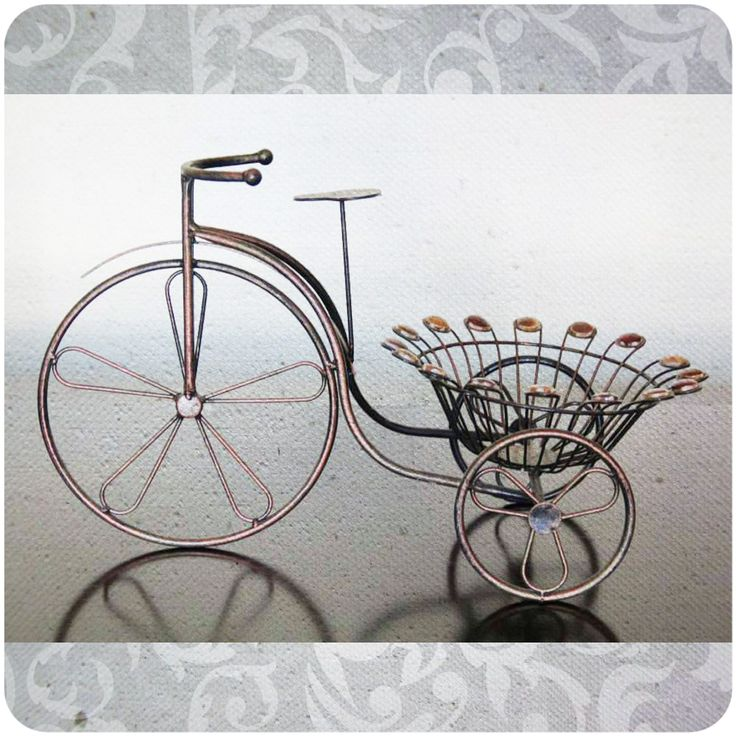 Porta macetas triciclo Código Fi15 Alto 32 cm / Ancho 26 cm / Largo 53 cm $23.000