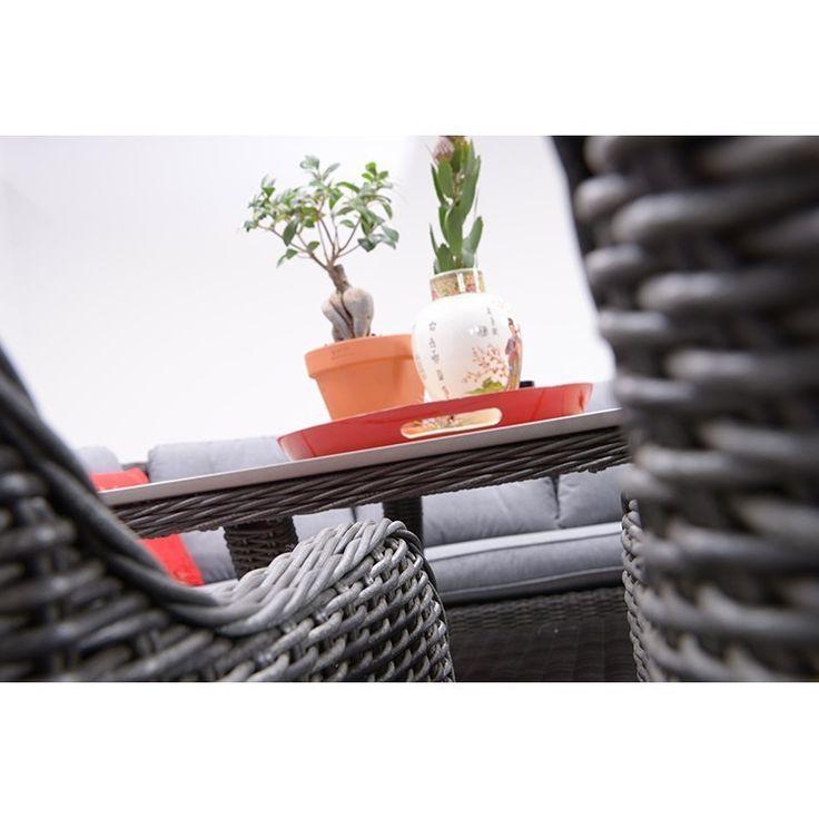 Garden Impressions Nova verstelbare fauteuil - donker grijs Wicker